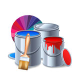Painting Tools Composition Royalty Free Stock Photography