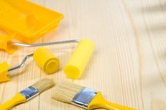 Painting tools with copyspace Royalty Free Stock Images