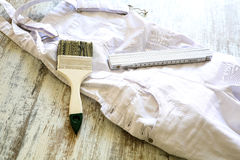 Painting Tools and Outfit Stock Photos