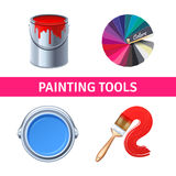 Painting Tools Realistic Set Royalty Free Stock Photos