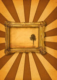 Painting with tree. Painting with lonely tree motive, photo insde is my property Stock Photo