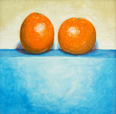 A painting - Two Oranges Royalty Free Stock Photography