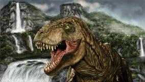 Painting Tyrannosaurus Stock Photo