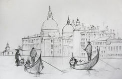 Painting of Venice Italy Royalty Free Stock Photo