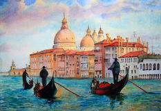 Painting of Venice Italy Stock Photos