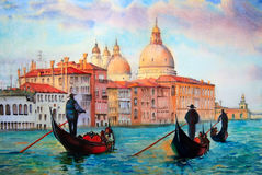 Painting of Venice Italy Stock Photo