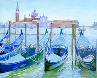 Painting - Venice. View of the island of San Giorgio Maggiore. This is my own drawing in gouache. I started drawing it in Venice, and I finished it at home royalty free stock image
