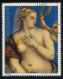 Painting Venus of the Mirror by Titian Stock Images