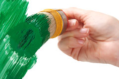 Painting with vibrant green color Stock Photo