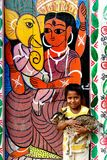 Painting Village in India Stock Photography