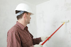 Painting the wall royalty free stock photo