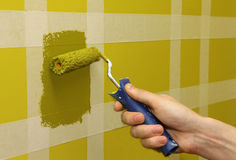 Painting the wall Stock Image