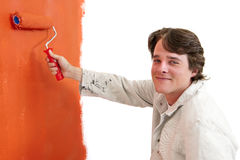 Painting a wall royalty free stock images