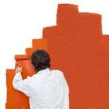 Painting a wall royalty free stock photos