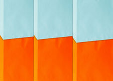 Painting wall. Orange and baby blue colors  painting wall Stock Image