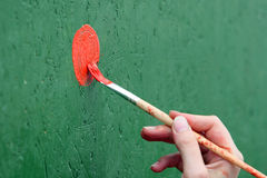 Painting the wall Royalty Free Stock Photography