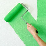 Painting a wall Royalty Free Stock Photography