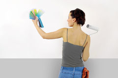 Painting the wall stock photography