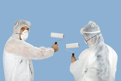 Painting wall Stock Images