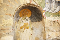 The painting on wall in church of St. Nicholas at Myra Stock Photo