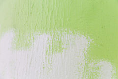 painting a wall from green to white color Royalty Free Stock Photography