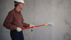 Painting the wall stock footage