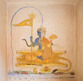 The painting on the wall in the Mehrangarh Fort. Jodhpur, India Royalty Free Stock Photography