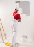 Painting Wall With Roller Stock Photography