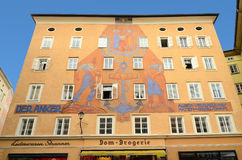Painting on the wall in  Salzburg Stock Image