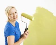 painting wall woman Στοκ Εικόνα