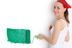 Painting walls Stock Image