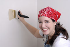 Painting Walls Royalty Free Stock Photography