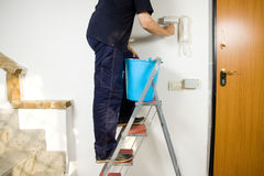 Painting the walls Royalty Free Stock Photo