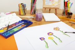 Painting with water colors Stock Images