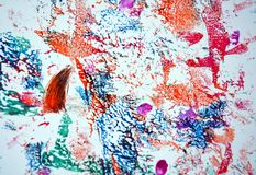 Mix red blue white green pink paint spots, vivid background, painting abtract colors royalty free stock image