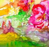 Watercolor.Abstract bright colorful decorative watercolor background. Watercolor. Handmade floral pattern. pattern Illustration royalty free stock photography