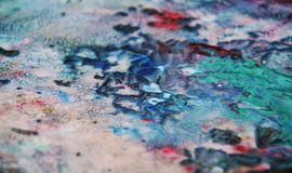 Blue red pink dark soft mix colors, painting spots background, watercolor colorful abstract background. Painting watercolor soft vivid abstract background in royalty free stock photography