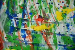 Painting waxy watercolor abstract background Royalty Free Stock Photography