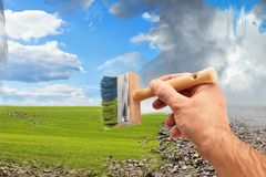 Painting the weather Royalty Free Stock Photo