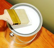 Painting it white Stock Image