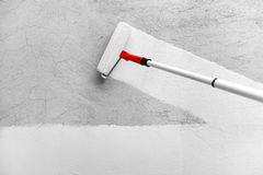 Painting With White Paint royalty free stock images