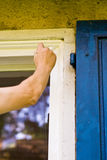 Painting of windows Stock Photos