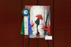Local District Art Fair Winner. A painting winning first in the local district art fair royalty free stock photo