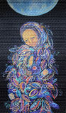 Painting woman with baby. Maternity. Maternity. Madonna with Child. Beautiful acrylic painting on canvas of woman in foliage clothes with baby, under the fool royalty free illustration