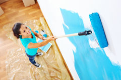 Painting woman Royalty Free Stock Photos