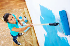 Painting woman Stock Images