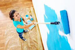 Painting woman Royalty Free Stock Images