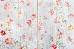 Painting wood. With roses pattern stock images