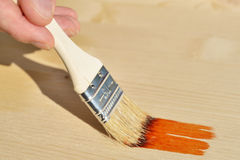 Painting the wood Stock Photos