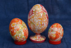 Painting on wood. Wood products, for the holiday, Easter, decorative art Stock Photo